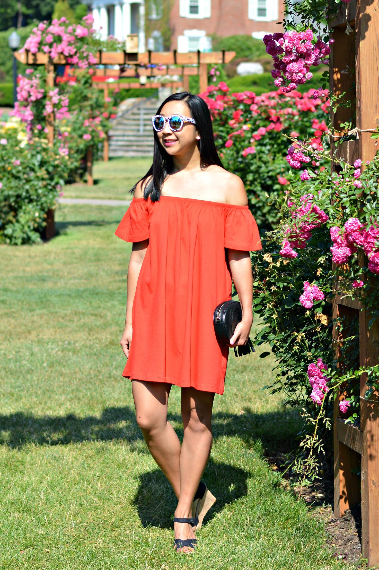 Red dress asos quay
